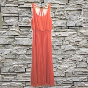Bisou Bisou tangerine long gown NWT